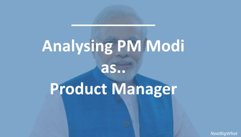 Narendra Modi as Product Manager