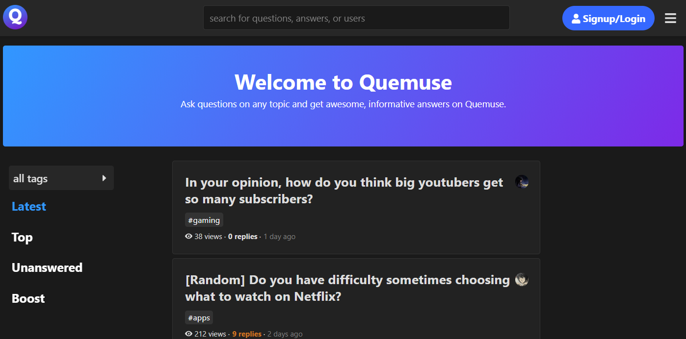 quemuse